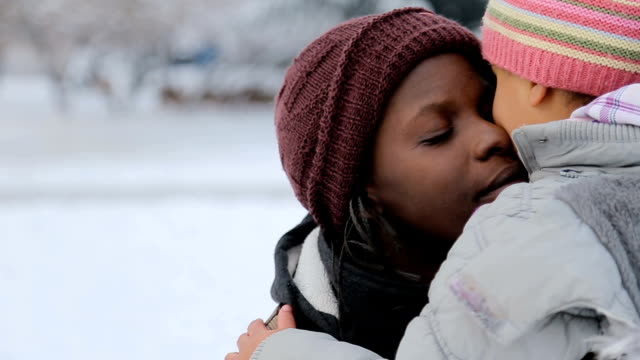 emotional embrace of mother and daughter - ethnicity stock videos & royalty-free footage
