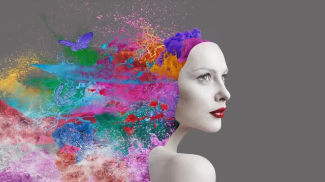 emotions inside human - art stock videos & royalty-free footage