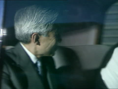 emperor akihito visit to uk; itn england: london: westminster: itaru umezu intvw sot - won't speculate on how he feels / hope it will be dignified /... - social grace stock videos & royalty-free footage