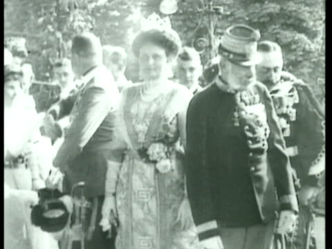 Emperor Franz Joseph I w/ wife Princess Sofie of Bavaria Emperor/King Karl I of Austria standing w/ new bride Zita Emperor Franz Joseph I standing in...