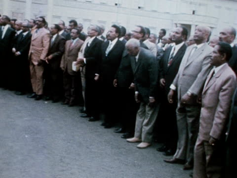 emperor haile selassie receives councillors in the grounds of the jubilee palace addis ababa - rastafarian stock videos & royalty-free footage