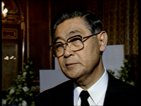 British reaction ENGLAND London Jaoanese embassy Bowd and Chiba CMS KAZUO CHIBA INTVW SOF He as you might advice Downing Street EXT CMS GRAHAM BOWD...
