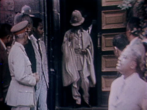 emperor of ethiopia haile selassie leaves a government building in addis ababa - rastafarian stock videos & royalty-free footage