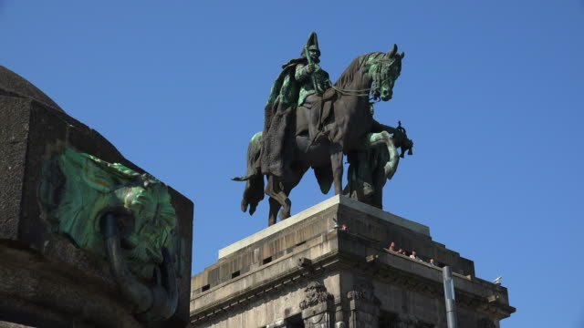 Emperor William I Memorial at Deutsches Eck, German Corner, Koblenz, Rhineland-Palatinate, Germany