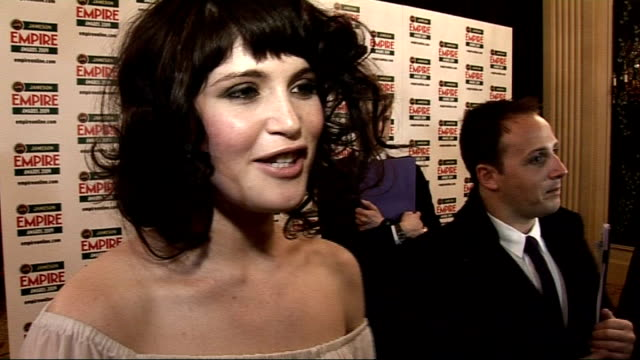 empire film awards 2009 gemma arterton sot on how she didn't do a kate winslet on stage how it's her first proper award and will pass it down to her... - clash of the titans stock videos & royalty-free footage