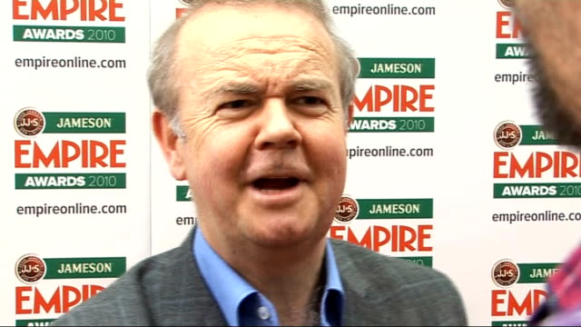 empire film awards in london; england: london: int ian hislop and his son william hislop interview sot - on loving empire magazine / on 'have i got... - ian hislop stock videos & royalty-free footage