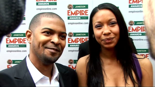 Empire Film Awards in London Noel Clarke interview SOT On 421 and his beautiful cast / On having an idea for four more films / On the Empire Awards /...