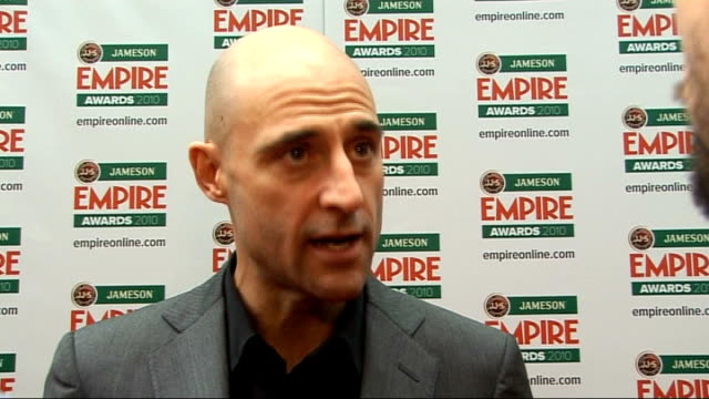 empire film awards in london strong interview sot on 'robin hood' and the old school film making of it / on the delay in the 'robin hood' script / on... - kick ass film title stock videos & royalty-free footage