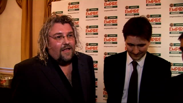 empire film awards in london; team behind 'harry brown' interview sot - on the script and the story having real-life resonances / on the casting of... - 俳優 マイケル・ケイン点の映像素材/bロール