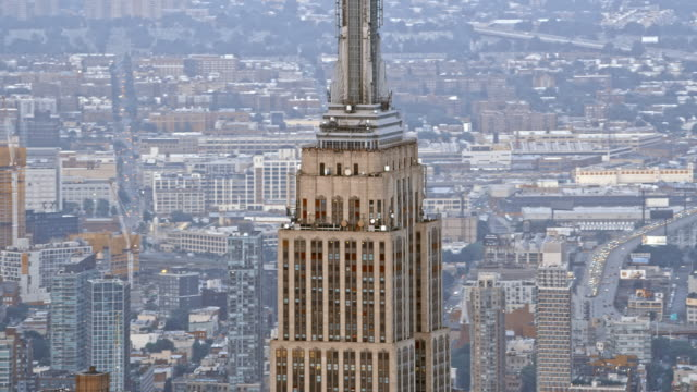 AERIAL Empire State Building in Manhattan, NYC