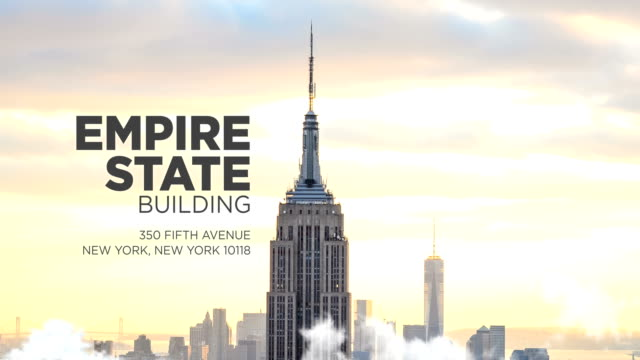 empire state building in new york city - one world trade center stock-videos und b-roll-filmmaterial