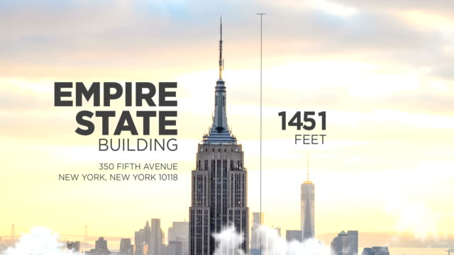 ニューヨーク市のエンパイアステートビル - 記号点の映像素材/bロール