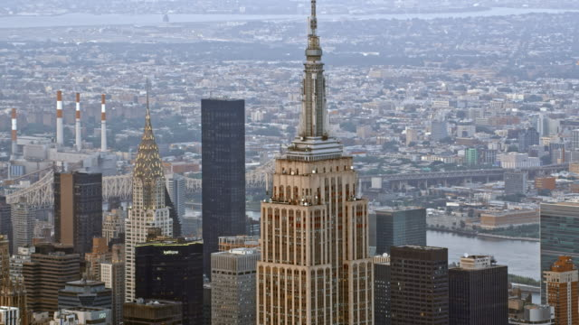 AERIAL Empire State Building in NYC