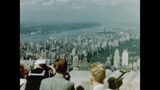 1948 empire state building - 1948 stock-videos und b-roll-filmmaterial