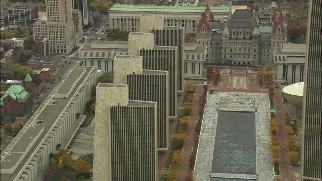 empire state plaza - albany new york state stock videos & royalty-free footage