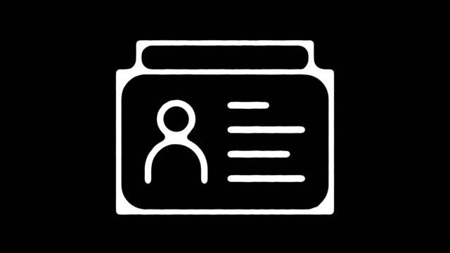 vidéos et rushes de animation en ligne blackboard id employé avec alpha - invité