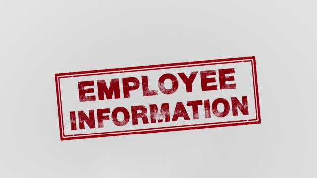 employee information - stampeding stock videos & royalty-free footage