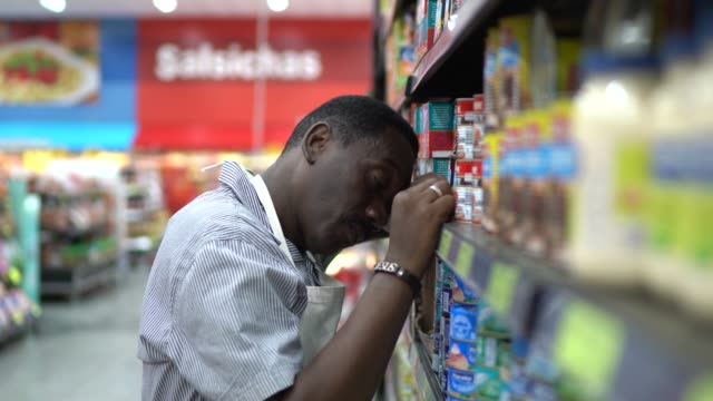 employee or owner feeling bad at supermarket - sales occupation stock videos & royalty-free footage