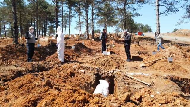 TUR: Burial Of COVID-19 Victims In Istanbul Cemetery