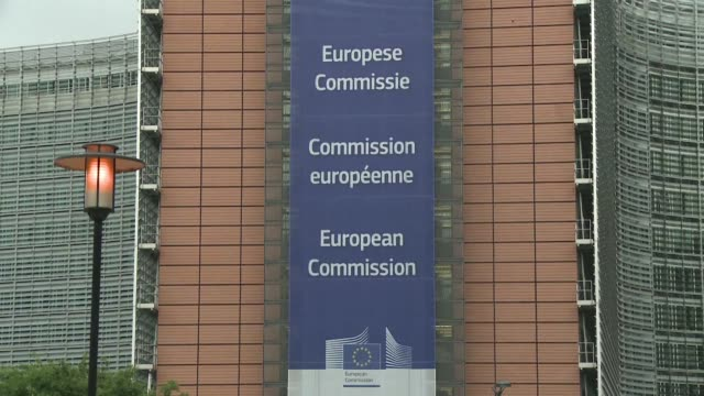 employees of the european commission react after britains historic vote to leave the european union - european commission stock videos & royalty-free footage