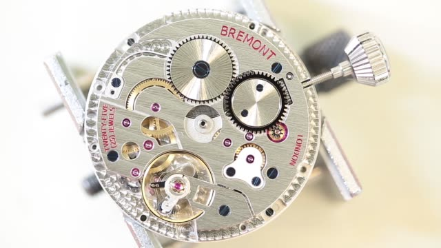 employees work on bremont wristwatches at the bremont watch company headquarters in henleyonthames london uk on monday oct 17 a collection of bremont... - wright flyer stock-videos und b-roll-filmmaterial