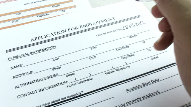 employment application - filling stock videos & royalty-free footage