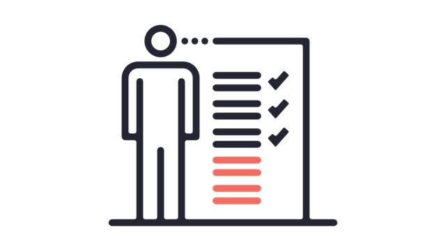 Employment Law Line Icon Animation with Alpha