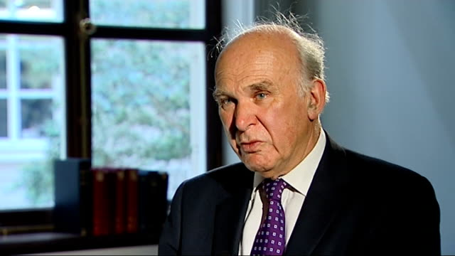 rise in number of workers on zero hours contracts; london: vince cable mp set up shot / interview sot -we do suspect that a certain amount of... - vince cable stock videos & royalty-free footage