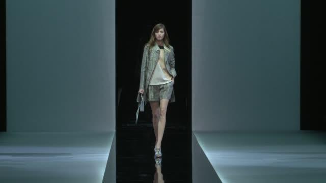emporio armani - milan fashion week s/s 2013 on september 20, 2012 in milan, italy - milan fashion week stock videos & royalty-free footage