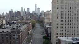 empty 6th Avenue in Manhattan NYC