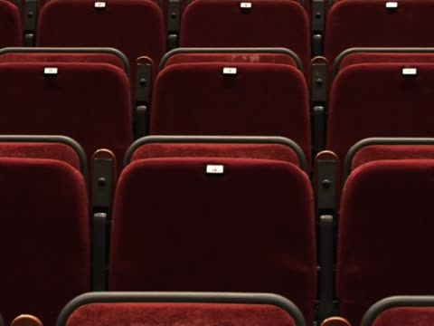 empty auditorium seats 3 - sparse stock videos and b-roll footage
