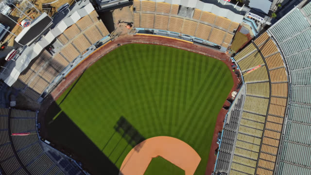 empty baseball stadium due to covid-19 event cancellations. - establishing shot stock videos & royalty-free footage