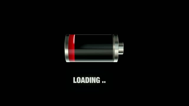 empty battery loading animation - loading screen stock videos & royalty-free footage