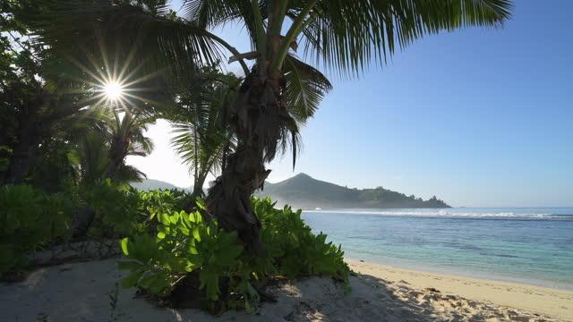 empty beach, baie lazare, mahe, mahe island, seychelles, indian ocean - seychelles stock videos & royalty-free footage