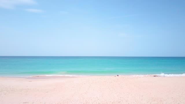 vídeos y material grabado en eventos de stock de playa vacía - vista marina