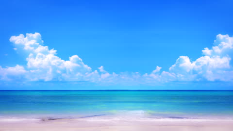 empty beach - horizon over water stock videos & royalty-free footage