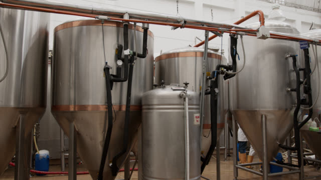 empty brewery factory - no people - vat stock videos & royalty-free footage