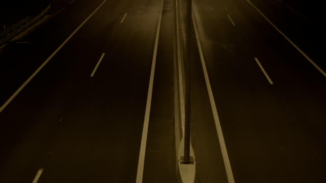 Empty Bypass At Night