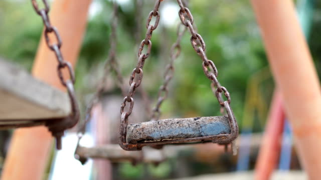 empty chain swing - playground stock videos & royalty-free footage