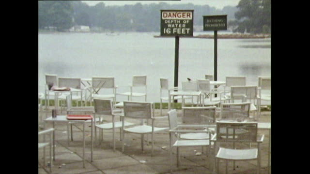 empty chairs beside the serpentine lake in hyde park; 1971 - outdoor chair stock videos & royalty-free footage