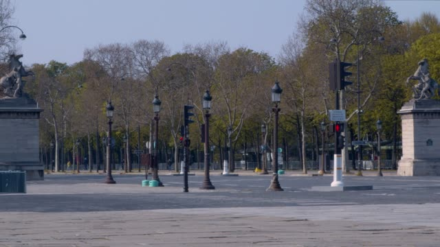 empty champs-elysees - avenue des champs elysees stock videos & royalty-free footage