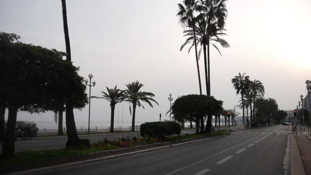empty city of nice during quarantine due to covid19 - tranquil scene stock videos & royalty-free footage