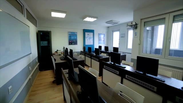 Empty classroom,camera stabilization shoot,b roll