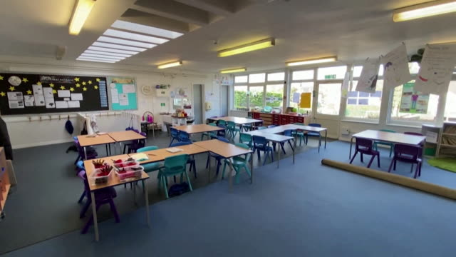 empty classrooms as schools are ordered to close due to coronavirus pandemic - studying stock videos & royalty-free footage