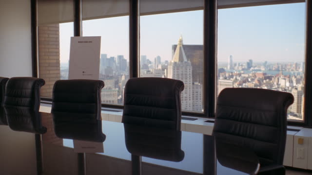 ms, empty conference room, new york city, new york, usa  - board room stock videos & royalty-free footage