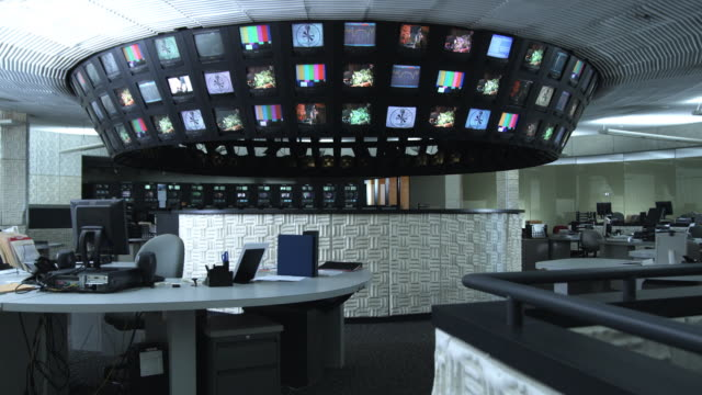 stockvideo's en b-roll-footage met ws empty control room, dallas, texas, usa - regelkamer