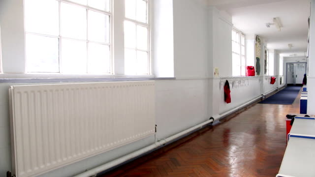 empty corridor - classroom stock videos & royalty-free footage