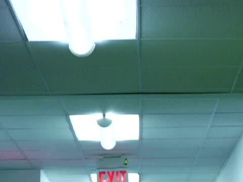 vídeos y material grabado en eventos de stock de ms, td, empty corridor - escritura occidental