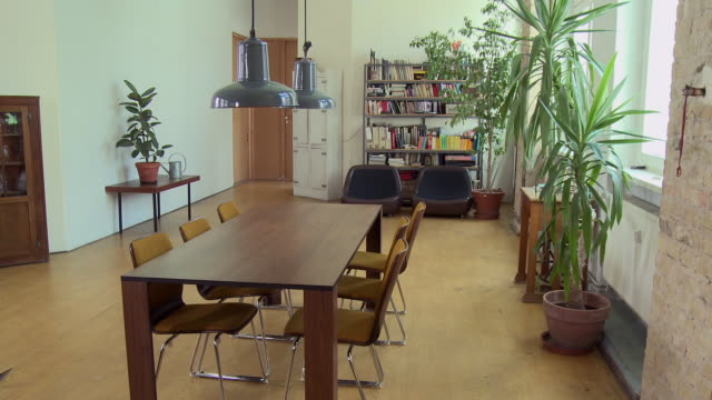 WS PAN Empty dining room in modern apartment / Berlin, Germany