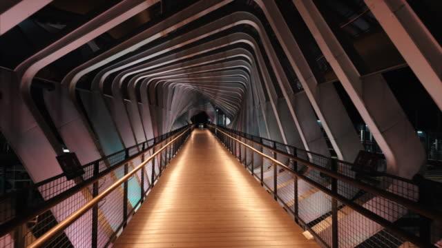 empty downtown jakarta bridge street during the covid-19 pandemic - strada vuota video stock e b–roll